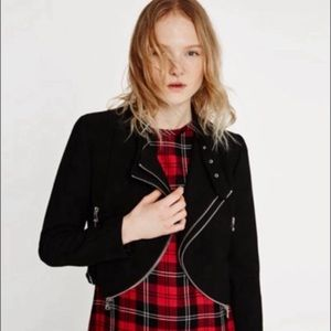 Zara Black Cropped Moro Jacket
